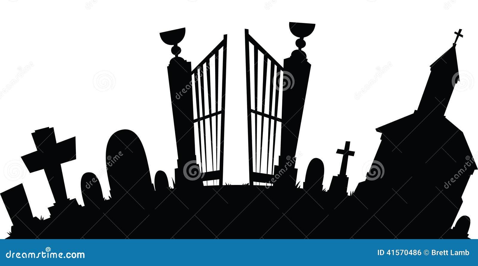 karikaturfriedhof stock abbildung illustration von