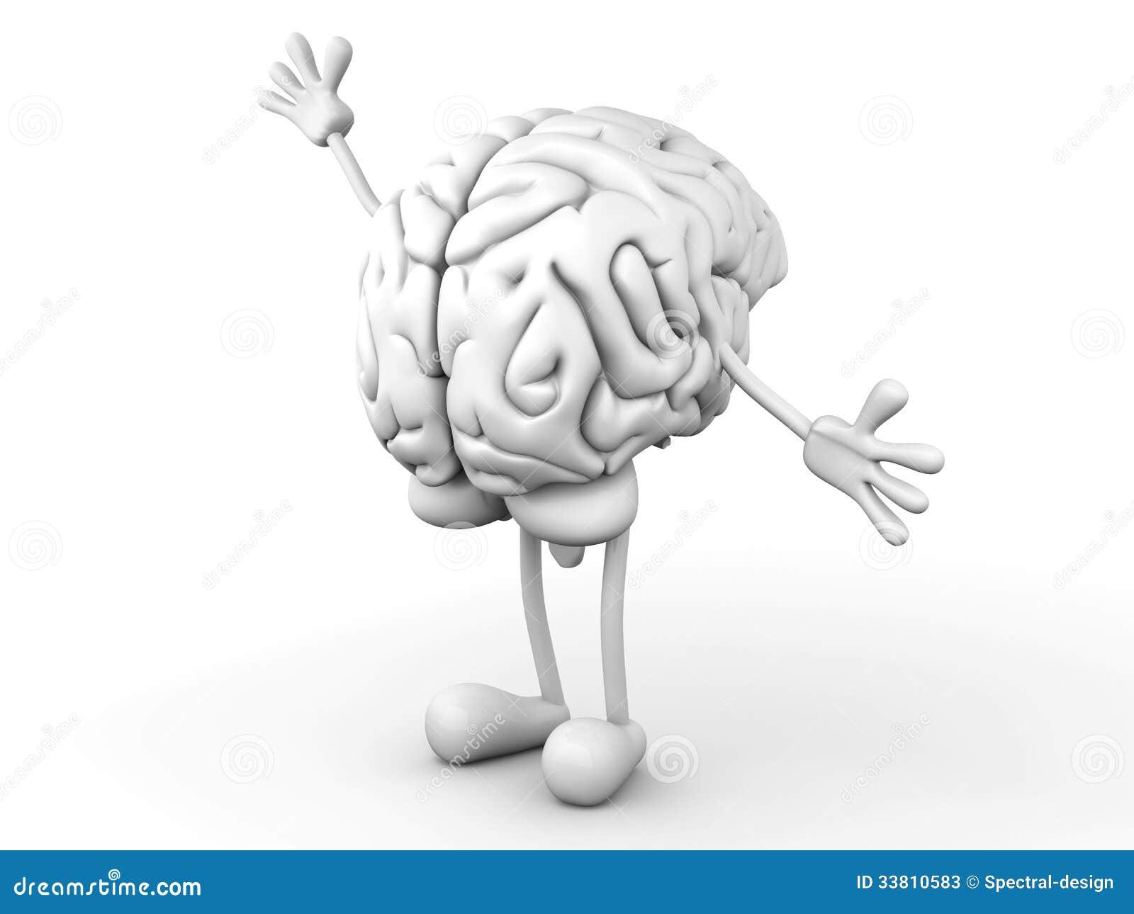 Karikatur-Gehirn stock abbildung. Illustration von gehirn - 33810583