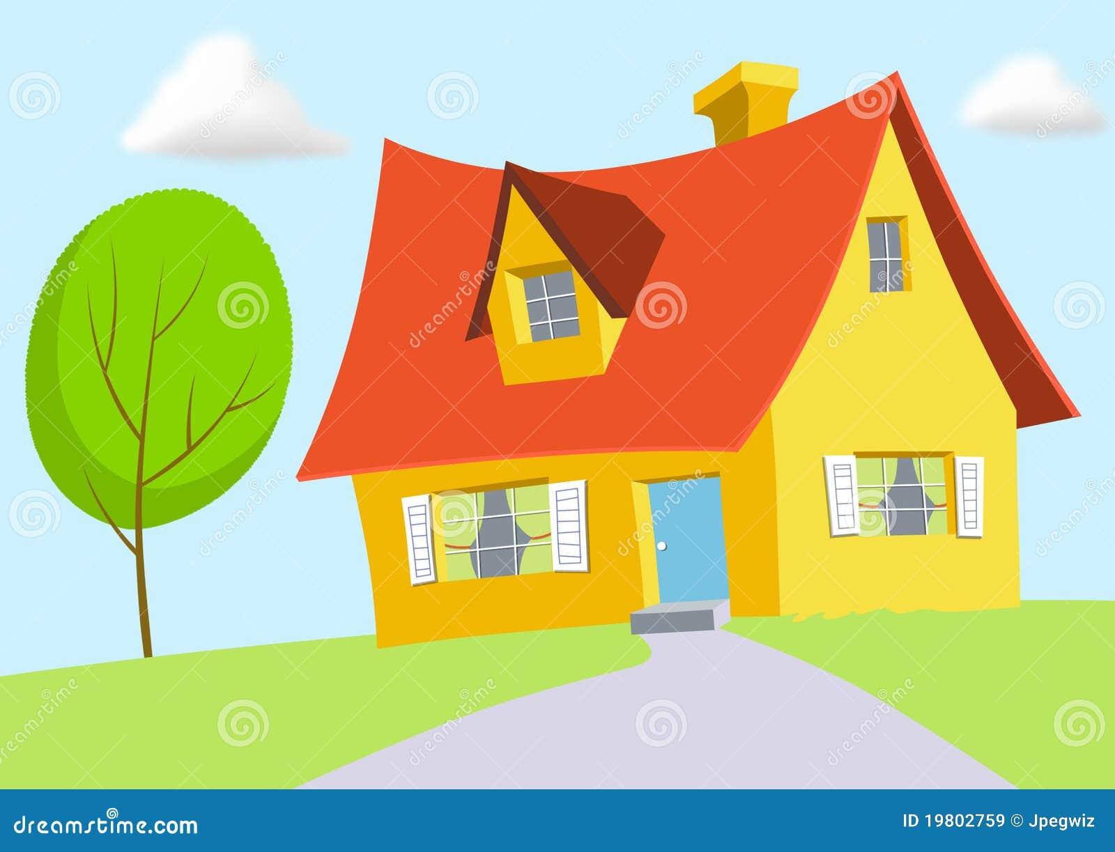 karikaturhaus lizenzfreies stockfoto - bild: 22695235, Hause und garten
