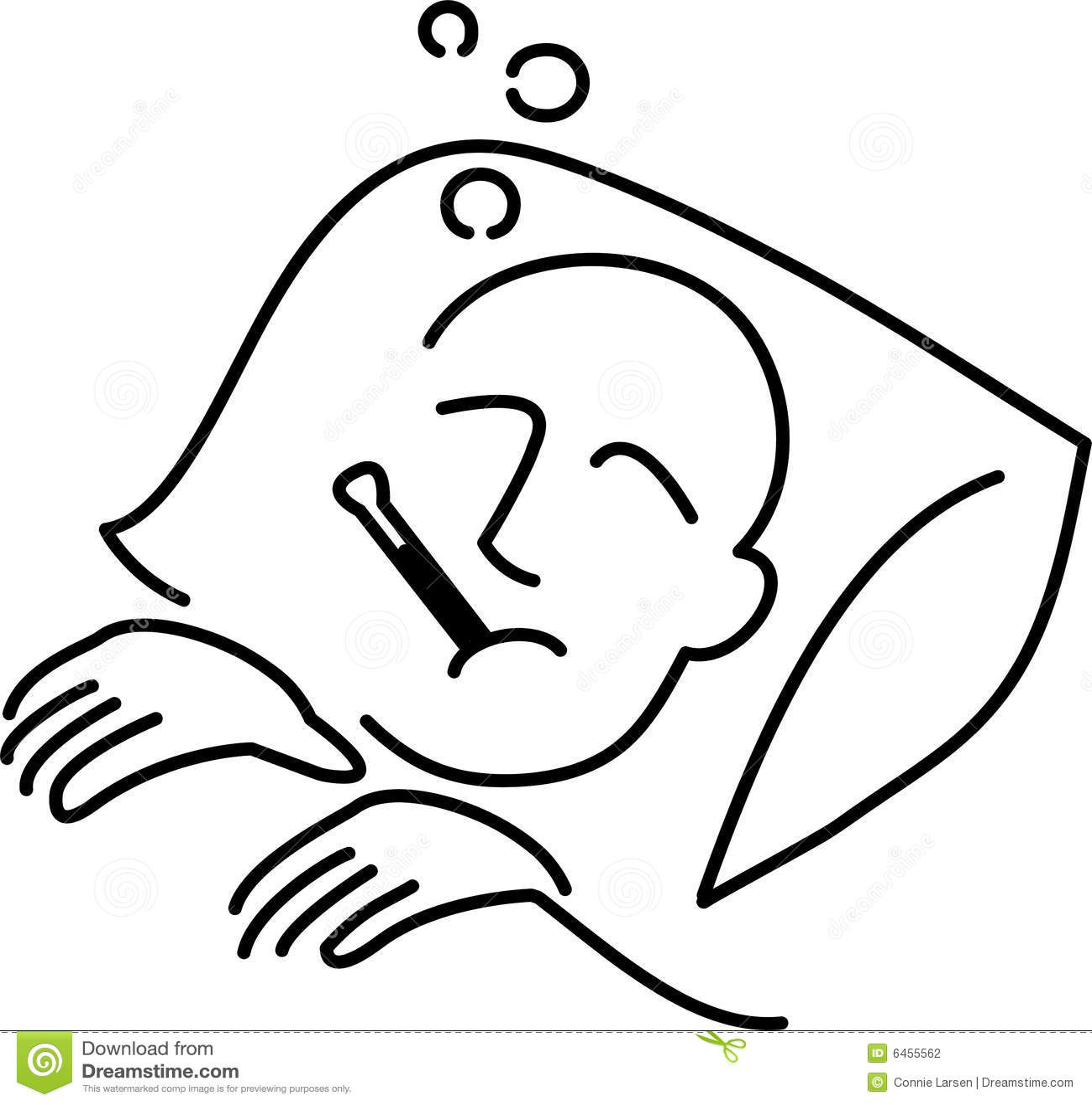 Karikatur-Krank-Mann