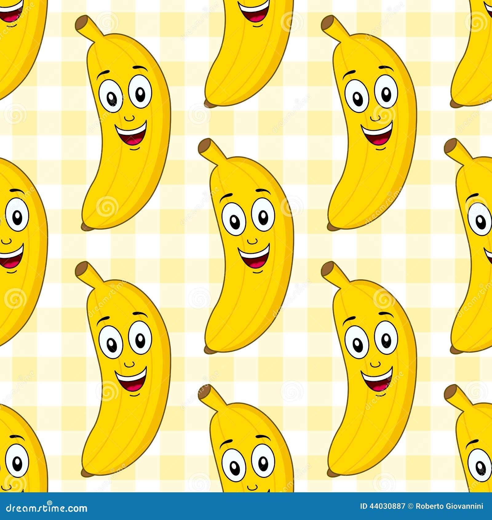 Karikatur-nette Bananen-nahtloses Muster