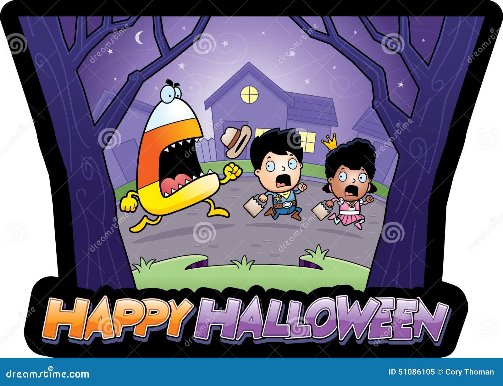 Karikatur Süßes Sonst Gibt\'s Saures Halloween Vektor Abbildung ...