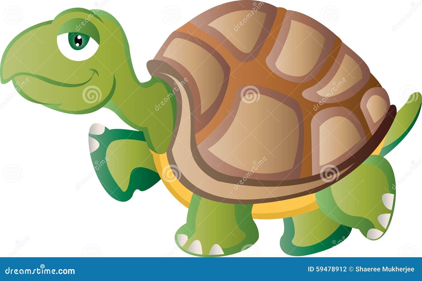 Karikatur-Schildkröte