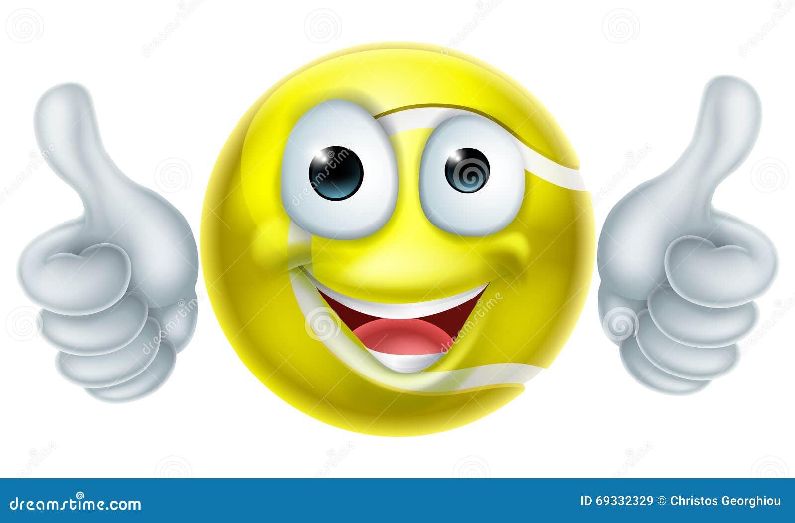 Karikatur Tennisball Mann Charakter Vektor Abbildung