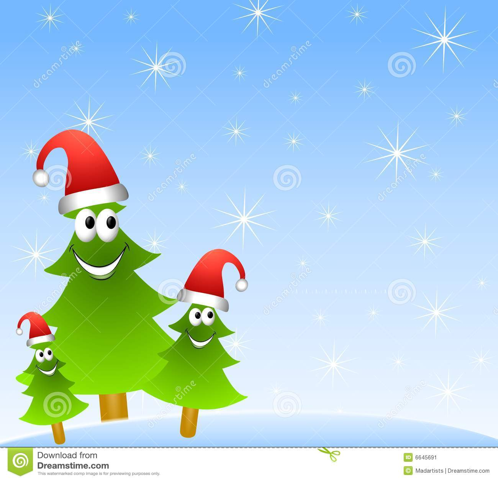 karikatur weihnachtsbaum gruppe stockbild bild 6645691. Black Bedroom Furniture Sets. Home Design Ideas