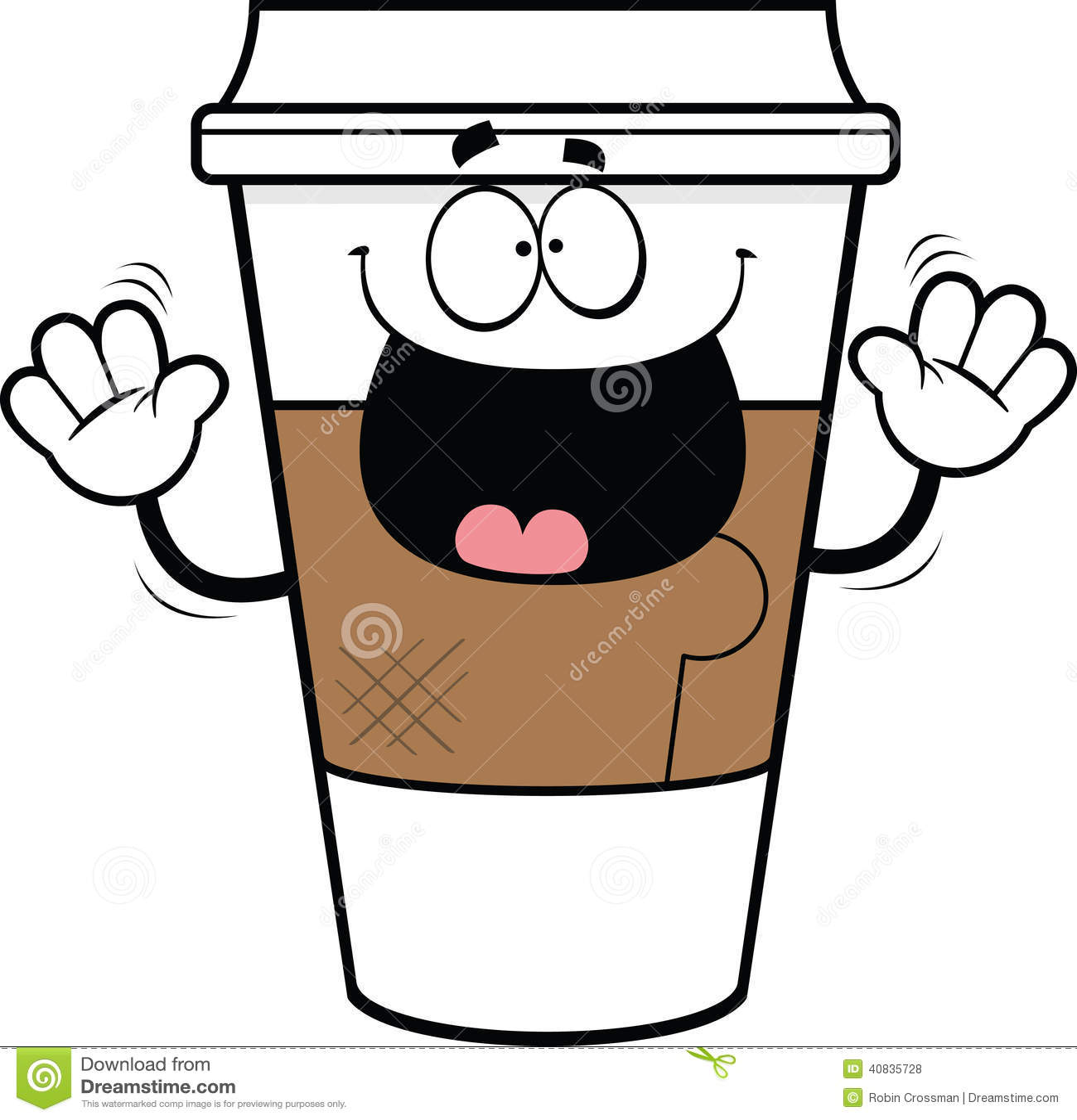 Brown Cartoon Coffee Mugs