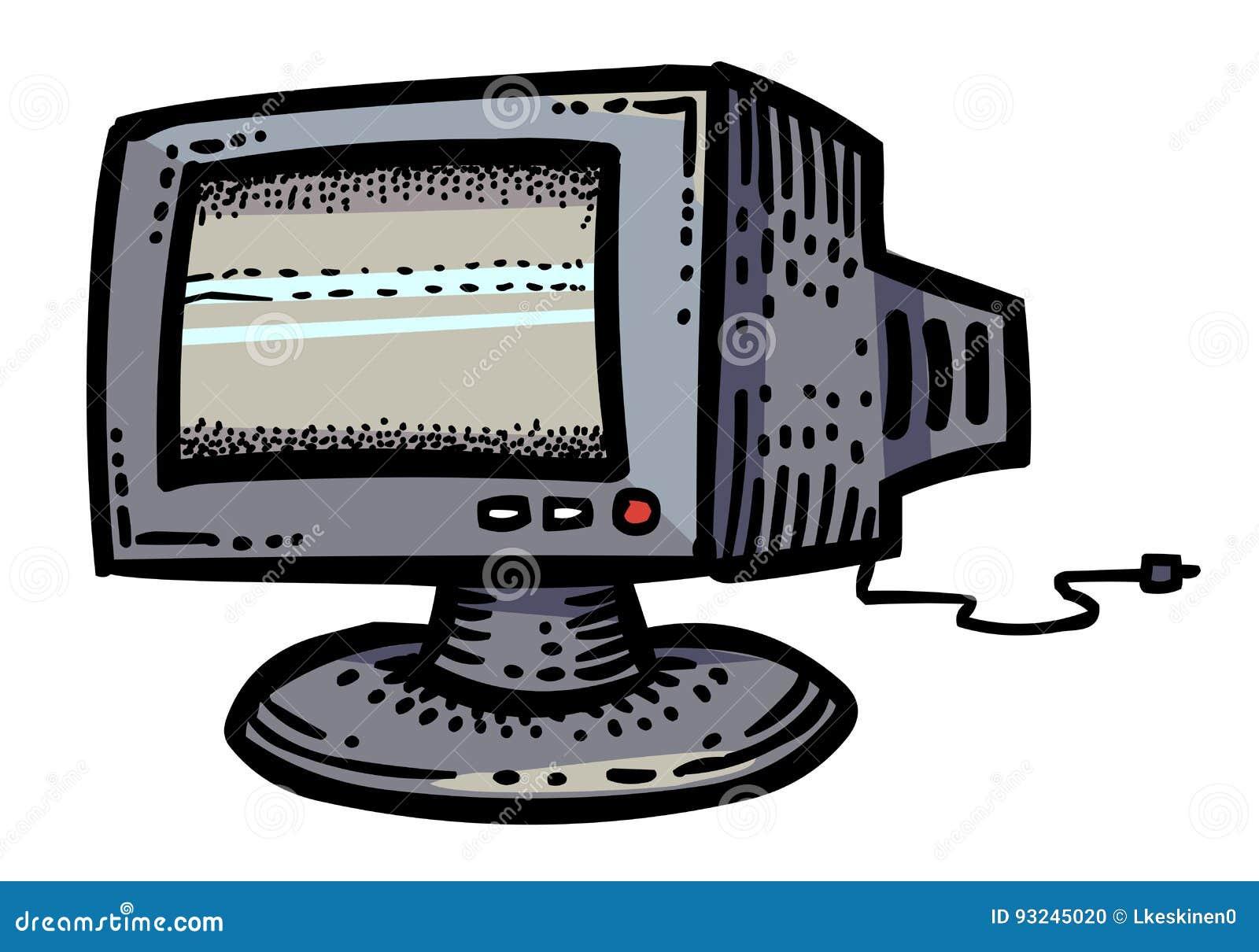 Karikaturbild Der Monitor-Ikone Computer, PC-Symbol Vektor Abbildung ...