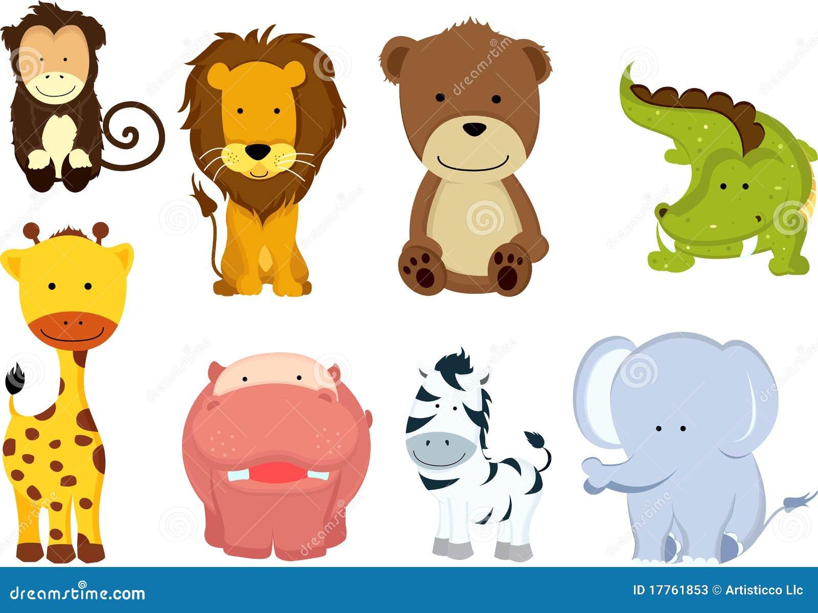 Karikaturen des wilden Tieres