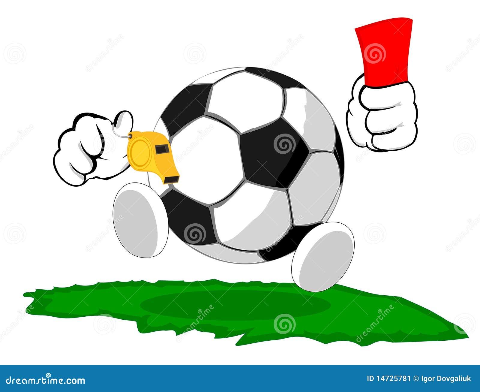 Karikaturfußballkugel der Richter
