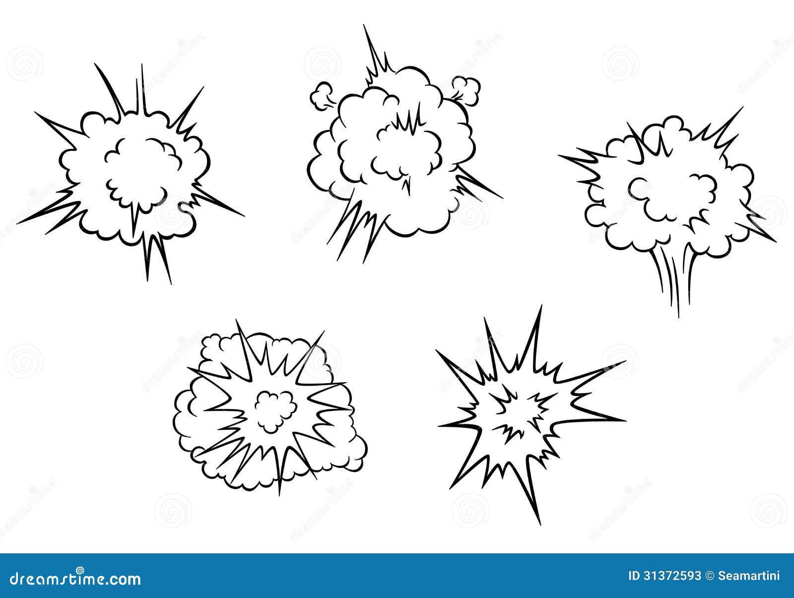 Karikaturwolken der Explosion