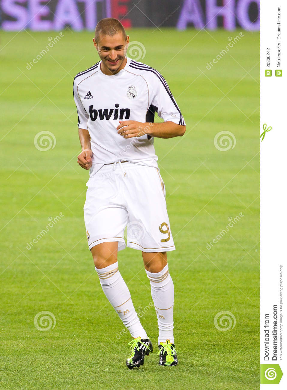karim benzema of real madrid editorial photography