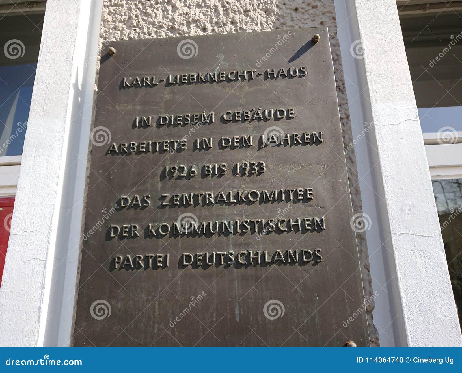 Karl Liebknecht House à Berlin, Allemagne