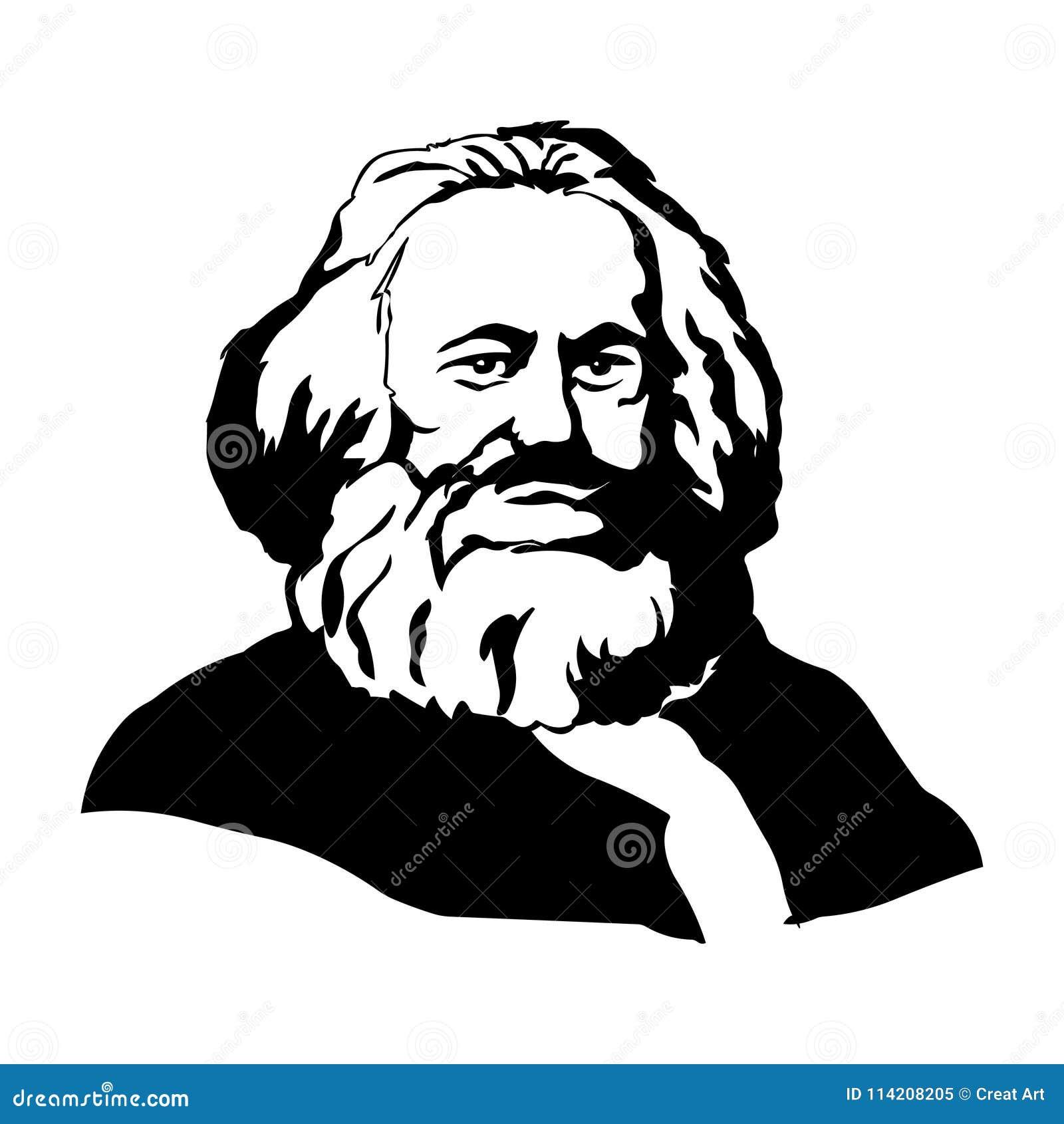 Karl Marx Vectorportret van Karl Marx