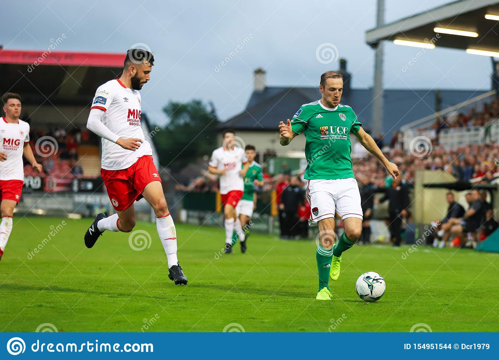 Karl Sheppard at League of Ireland Premier Division match between Cork City FC vs St Patricks Athletic FC