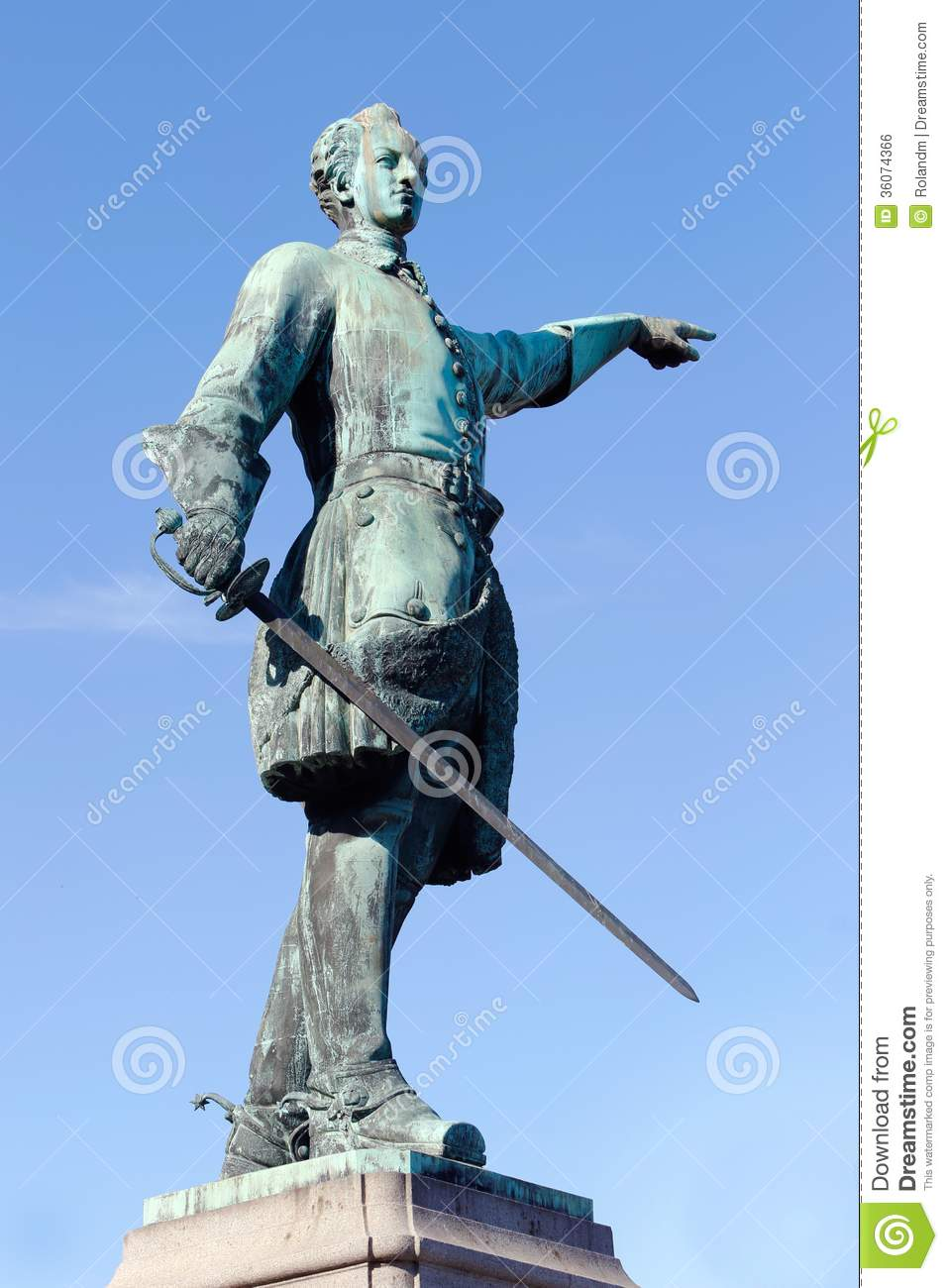 Karl Xii Statue Royalty Free Stock Image Image 36074366