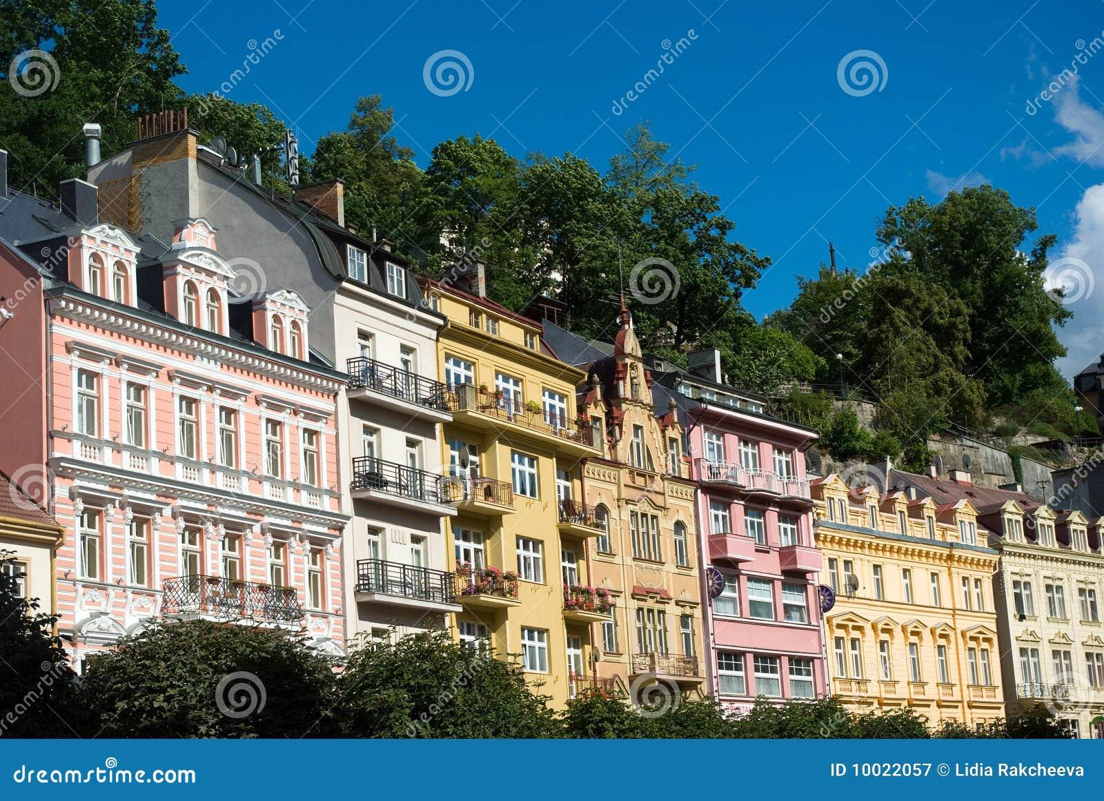 Karlovy Vary House Facades