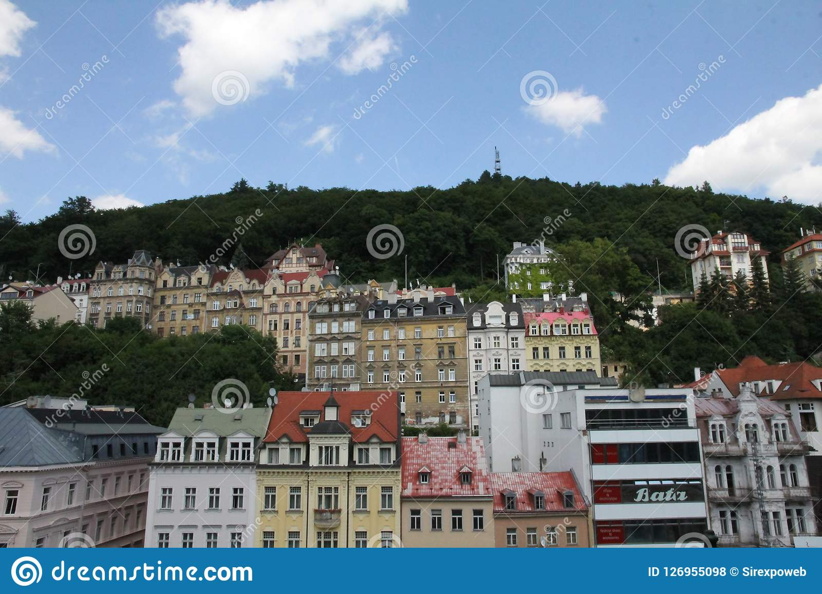 Karlovy Vary oder Karlsbad in West-Böhmen, Tschechische Republik