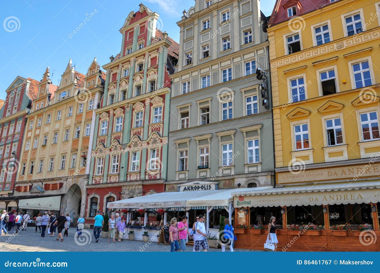 Karlovy Vary, Tschechische Republik - 20. Juni 2012 - Haus auf der Hauptstraße in der Stadt von Karlovy Vary
