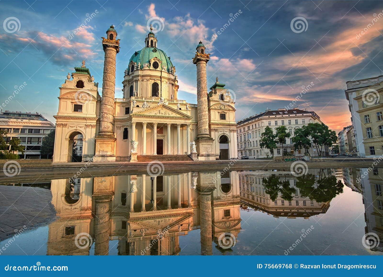Karlskirche in Wenen, Oostenrijk St Charles Kerk