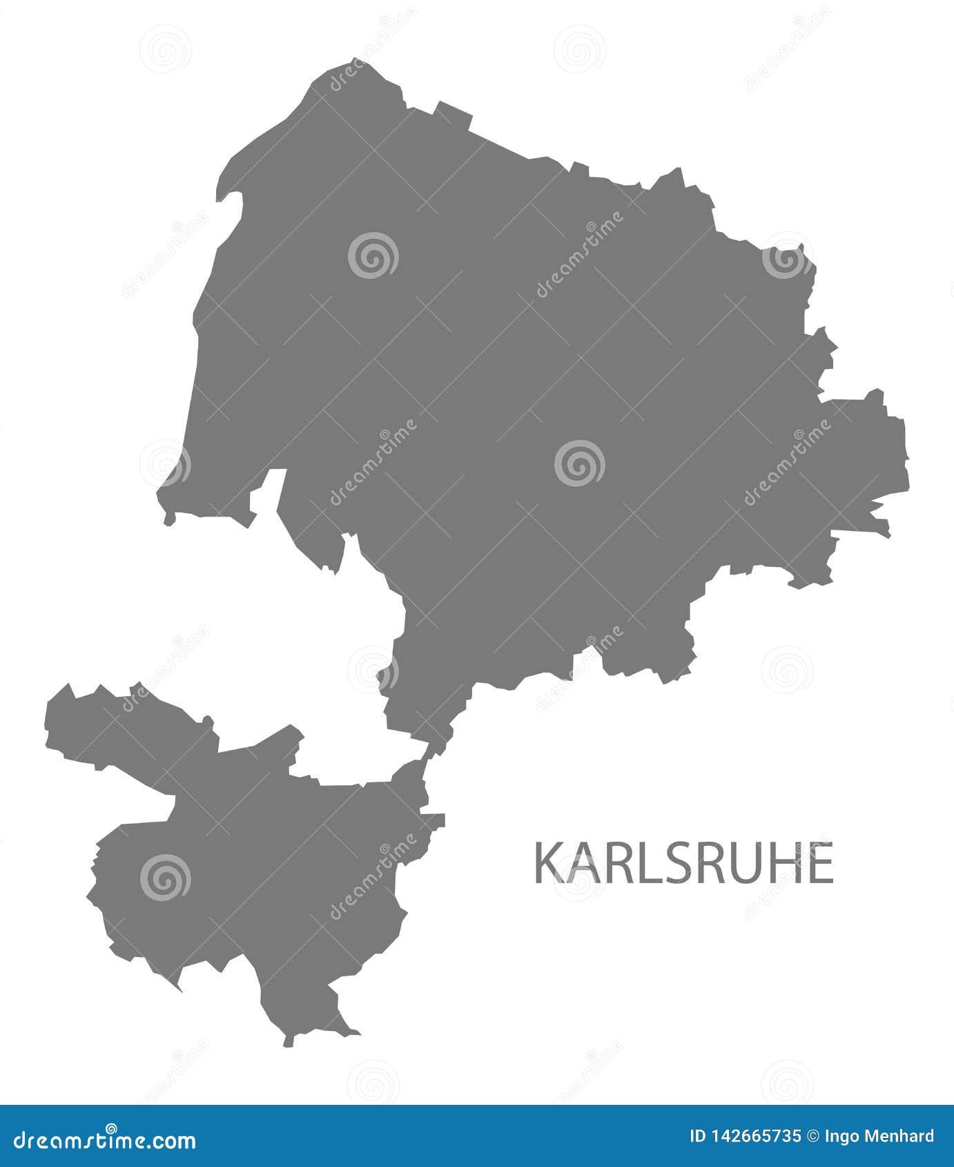 Map Of Germany Karlsruhe Baden.Karlsruhe County Map Of Baden Wuerttemberg Germany Stock Vector