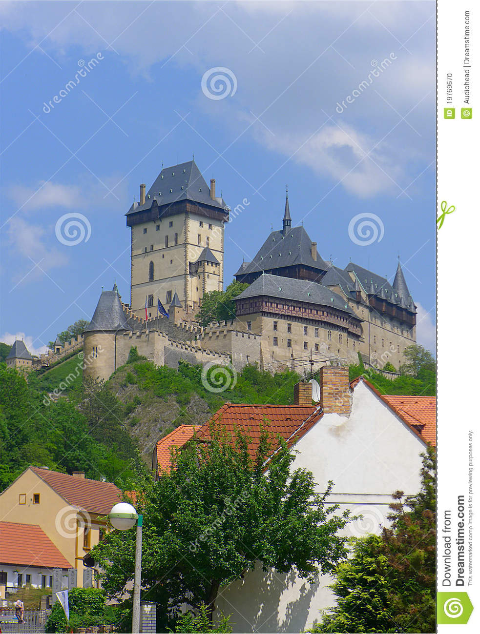 Karlstejn castle czech republic stock photo image 19769670 for Where is prague near
