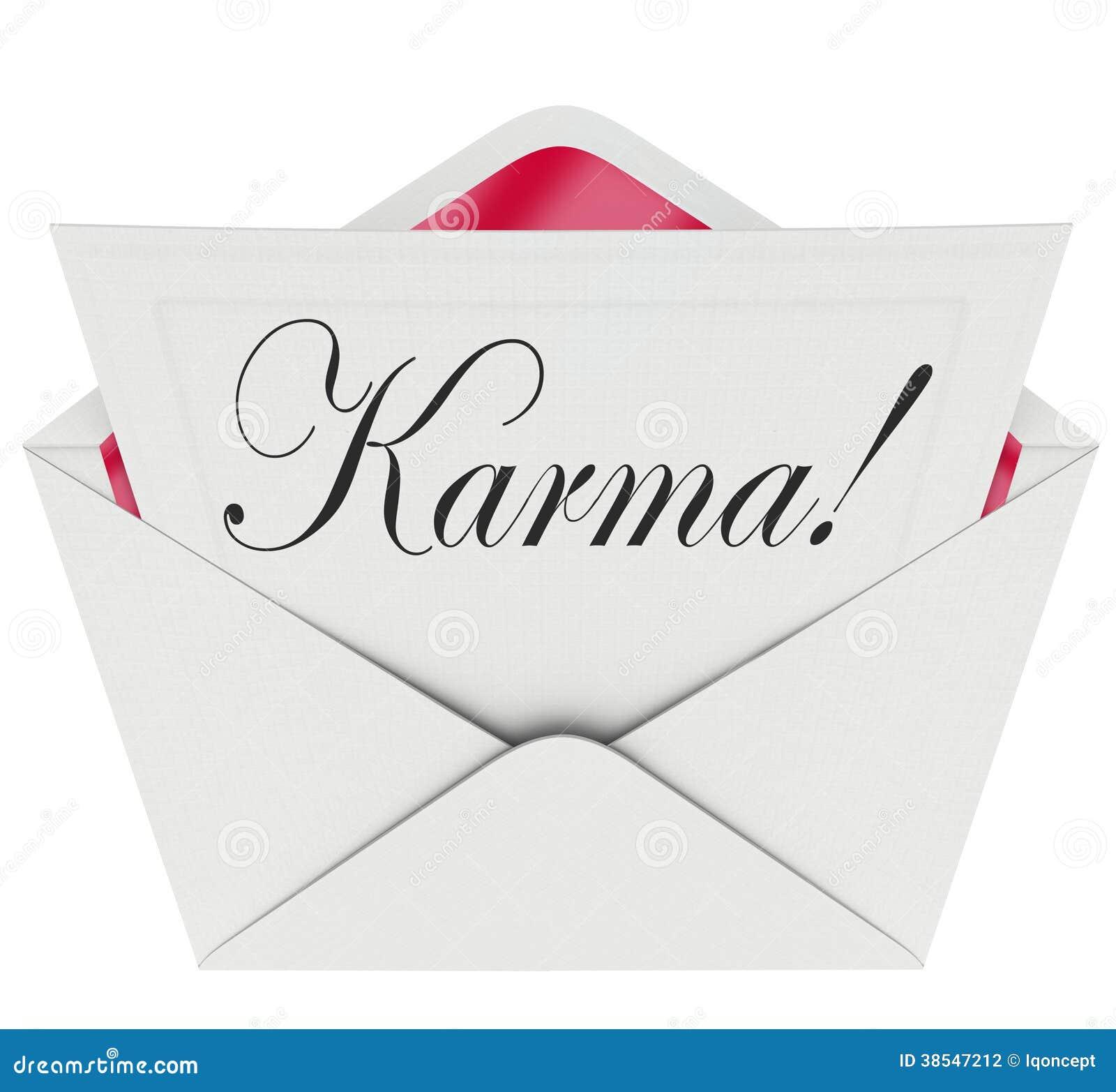 Karma invitation letter message open envelope good news luck stock karma invitation letter message open envelope good news luck stopboris Choice Image