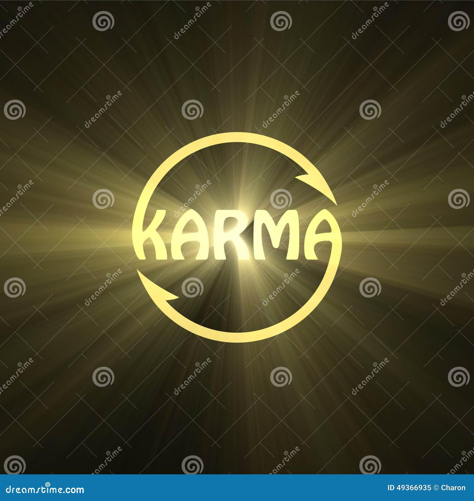 Karma letter buddhism sign light flare stock illustration karma letter buddhism sign light flare buycottarizona Gallery