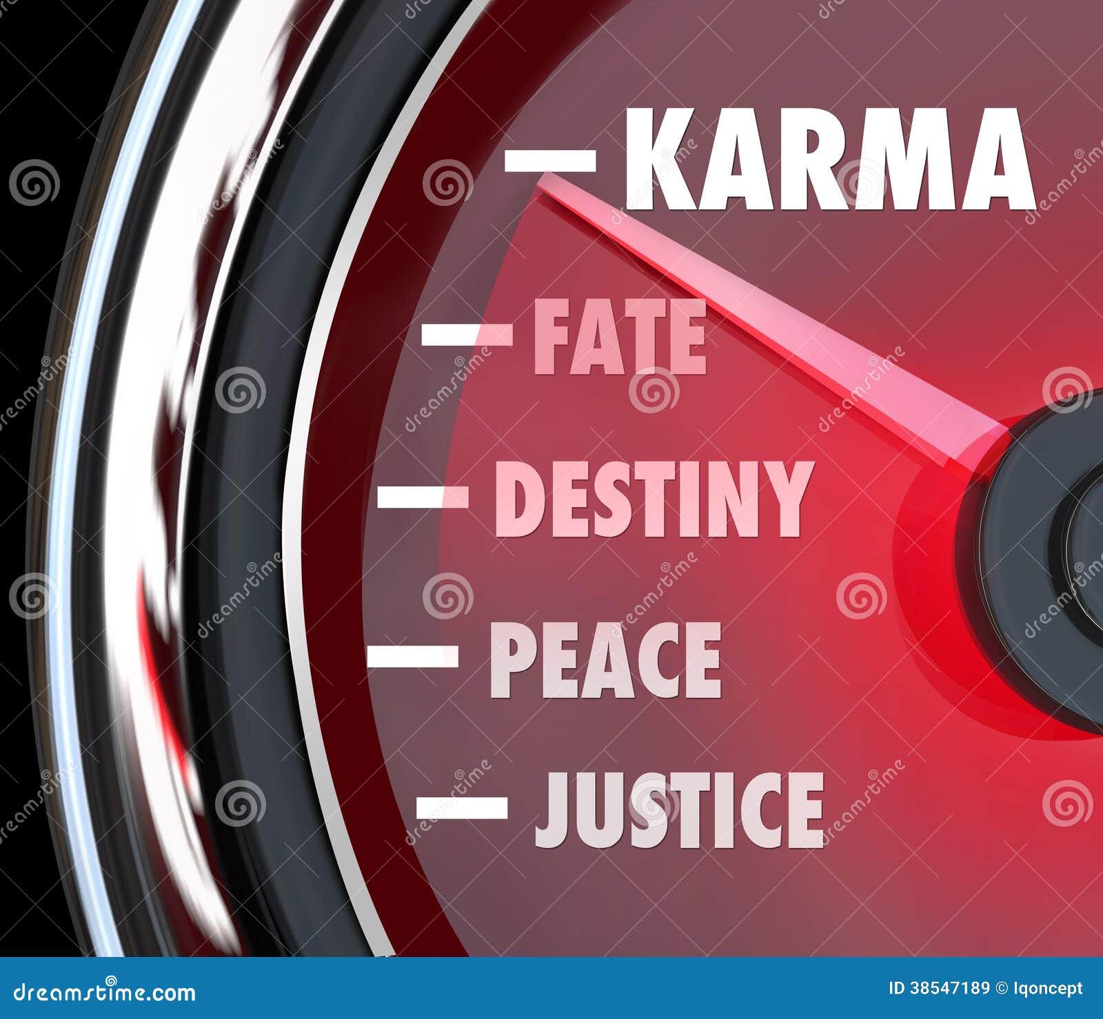 Karma Measurement Speedometer Level Track Ihr gutes Glück-Schicksals-De
