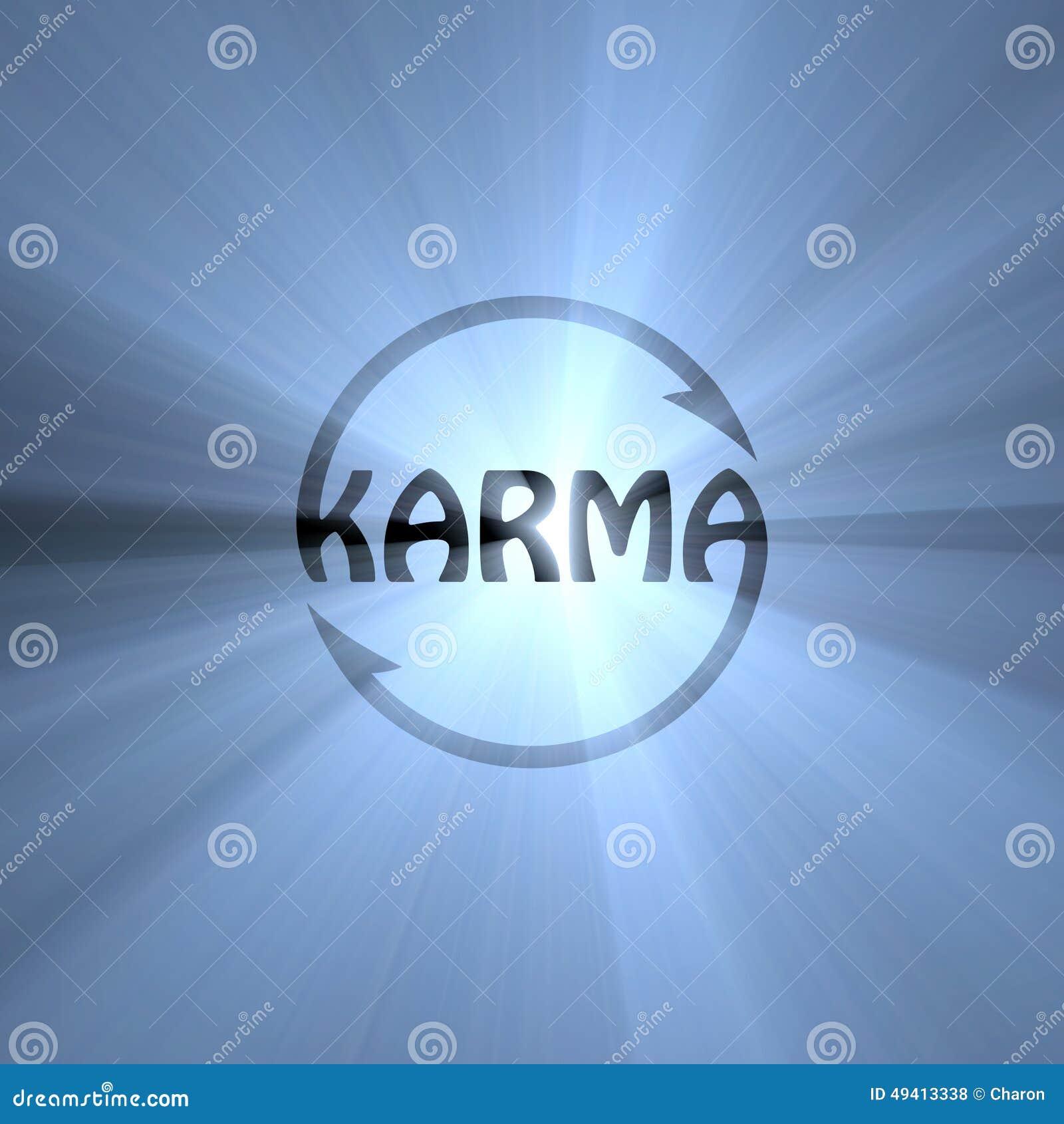 Download Karmabuchstabe Buddhismuszeichen-Lichtaufflackern Stock Abbildung - Illustration von charme, lichtstrahl: 49413338