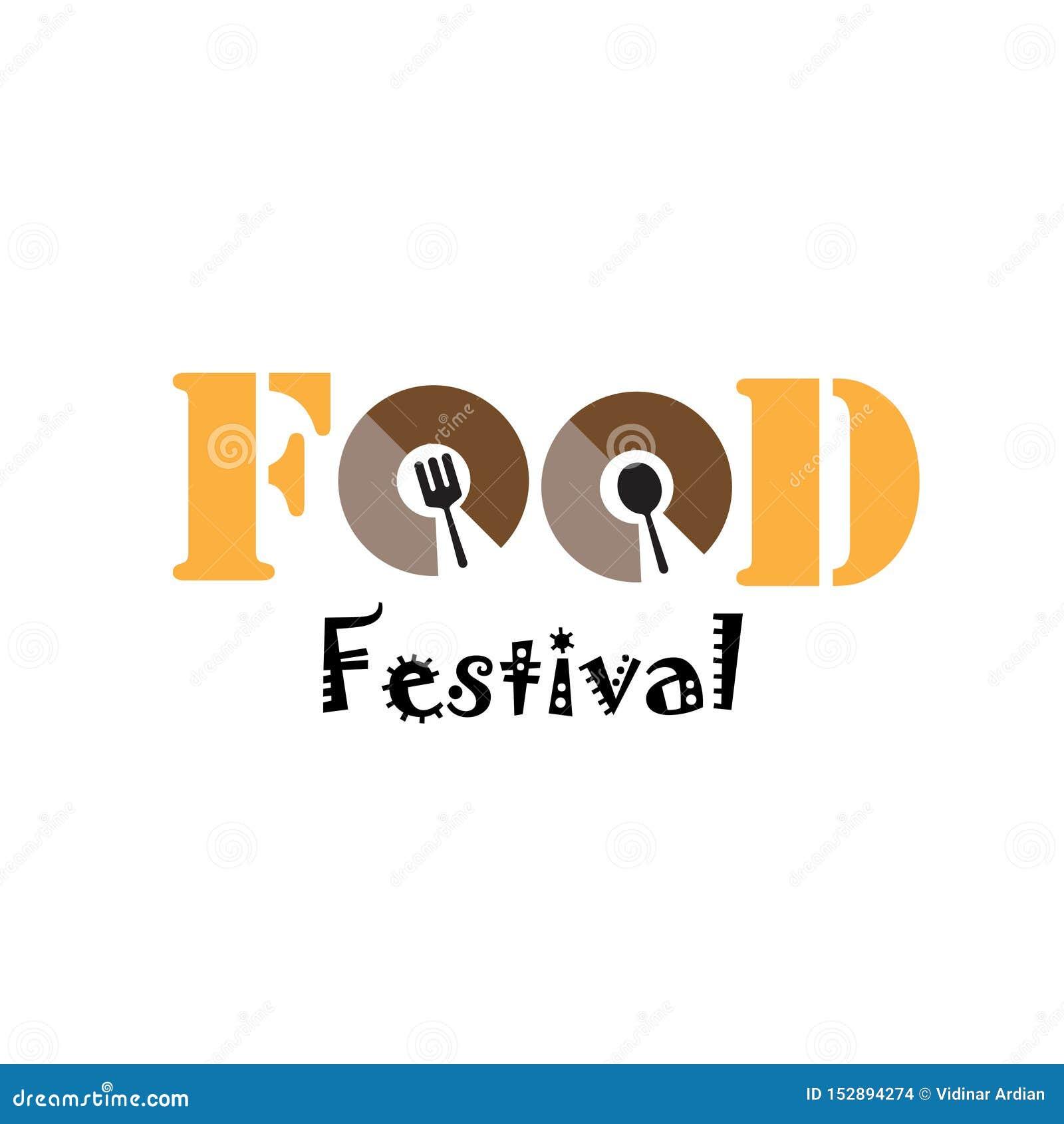 Karmowego festiwalu loga szablonu projekta Wektorowa ilustracja