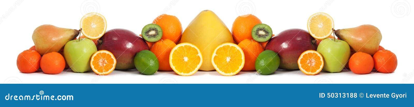Karmowy owocowy sztandar