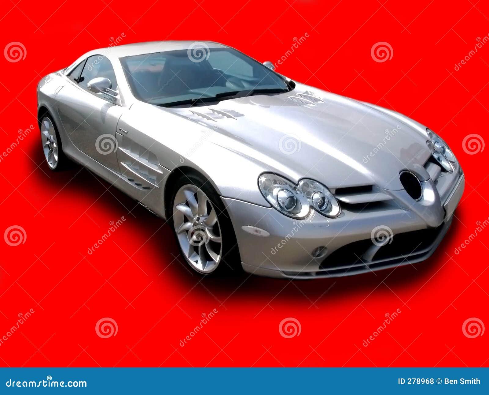 Karmozijnrode Merc SLR -