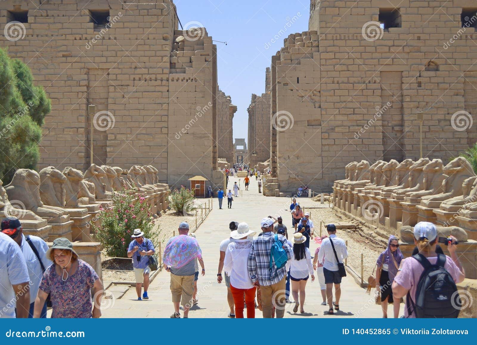 Karnak świątyni wejście