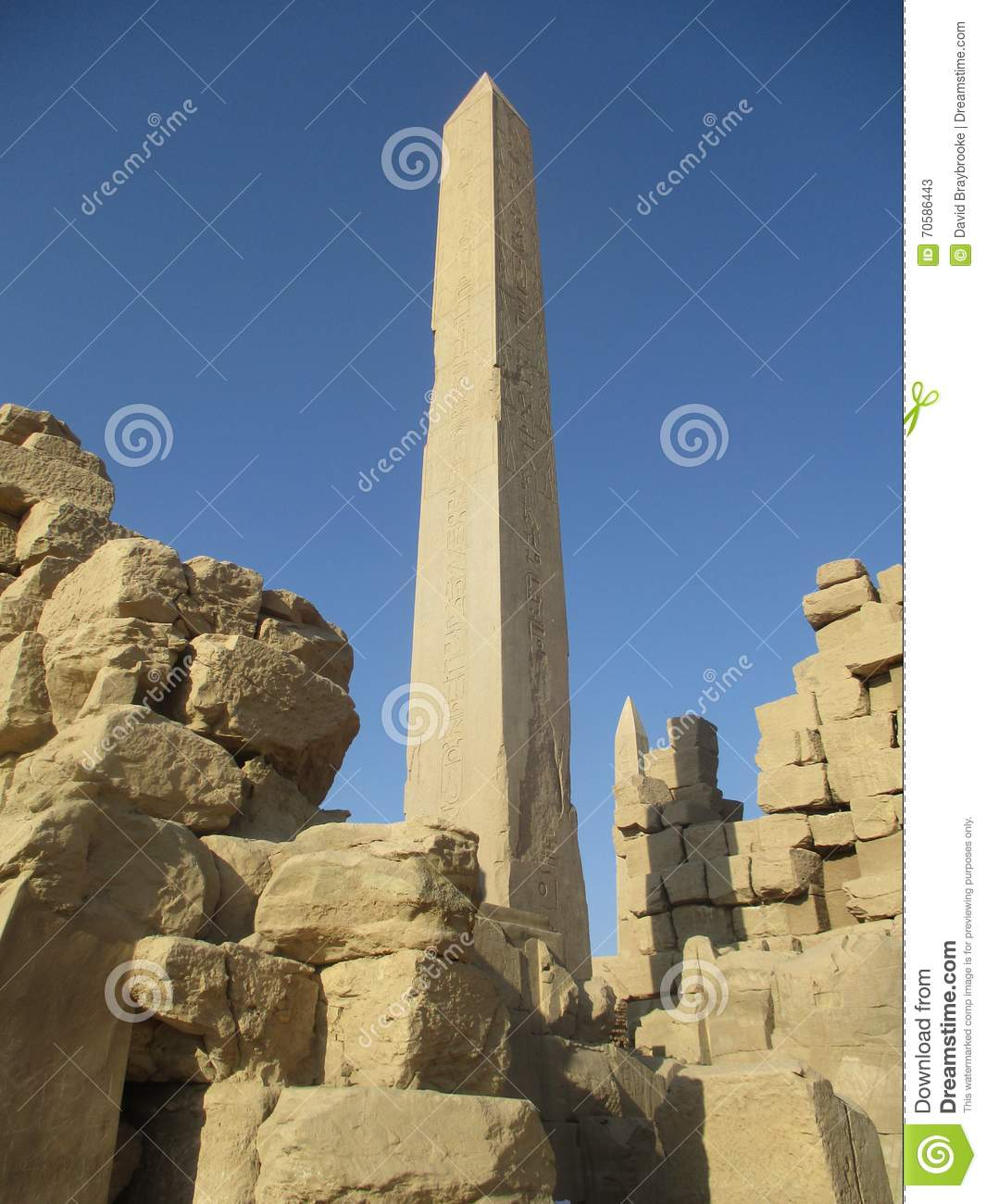 Karnak obelisk stone temple carving stock photo image