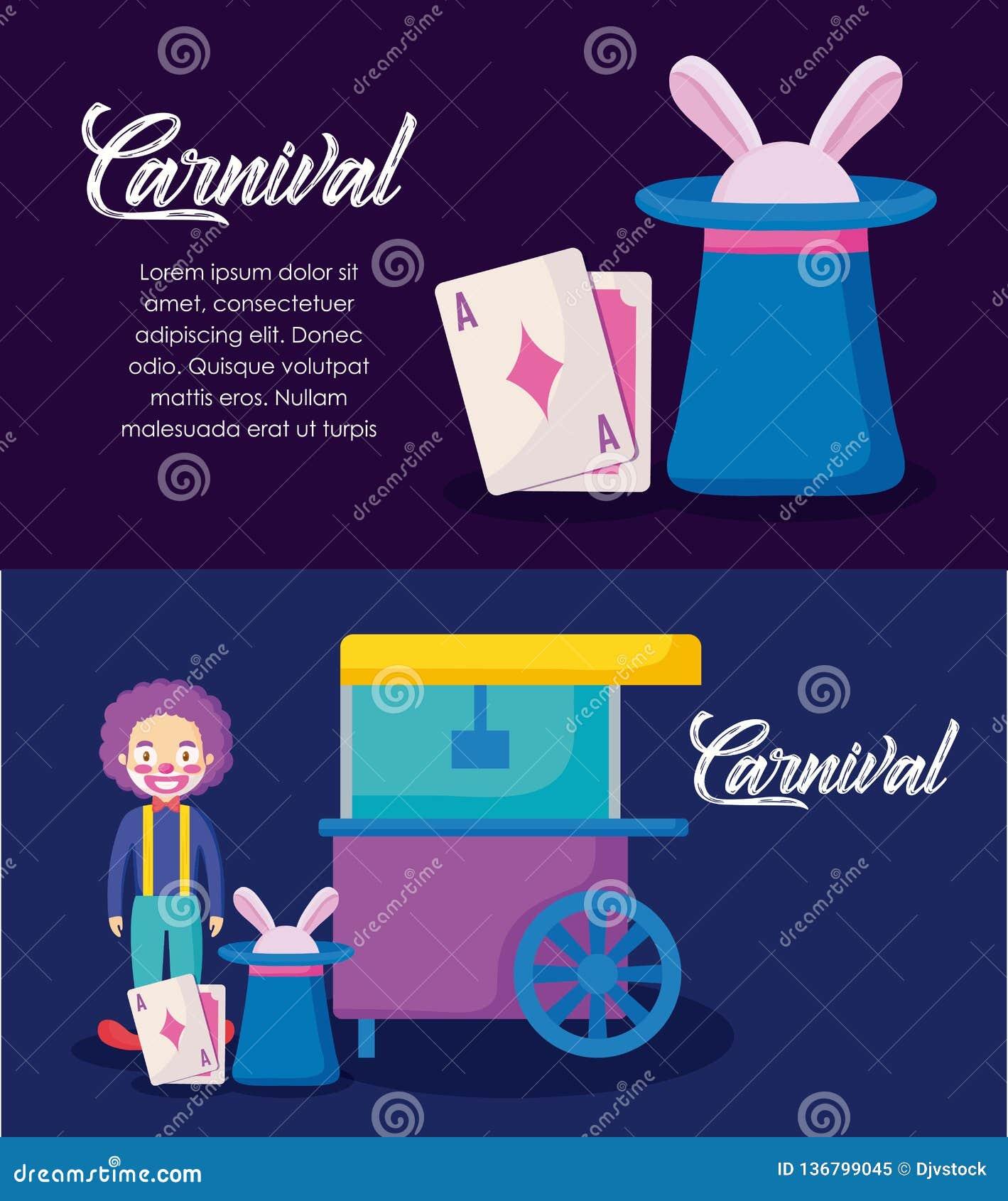 Karnawałowego świętowania infographic ikony
