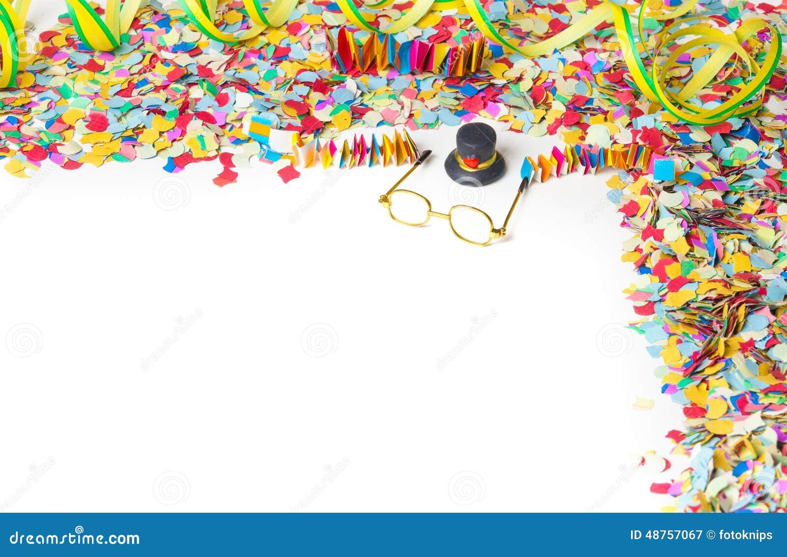Karneval Konfetti Partei Hintergrund Stockbild Bild Von Treppen