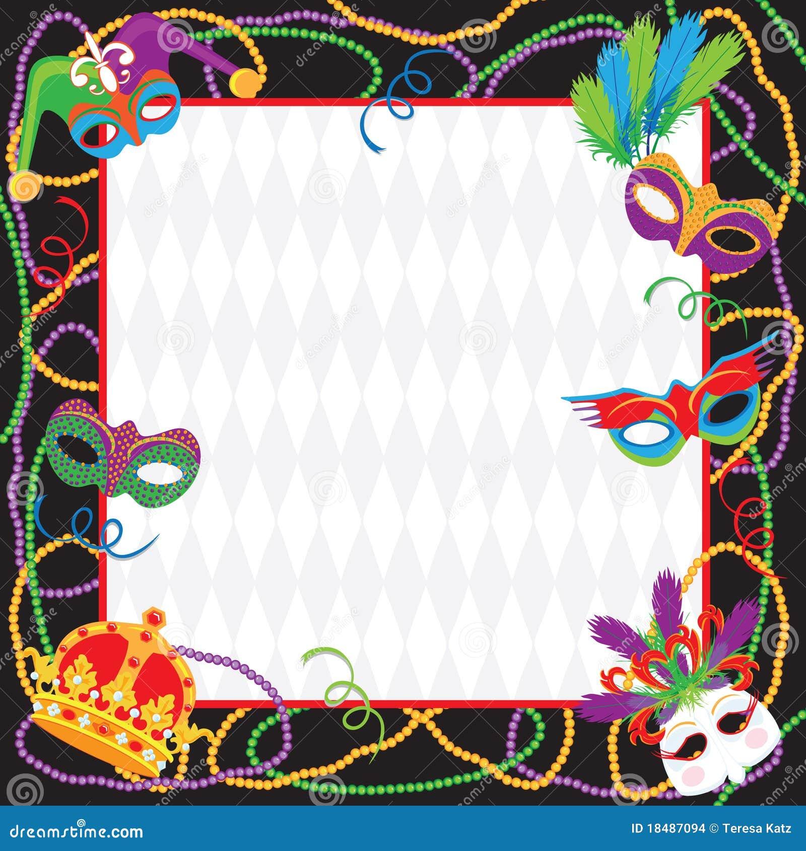 Desenho 2d Online Karneval Party Einladung Stockbilder Bild 18487094