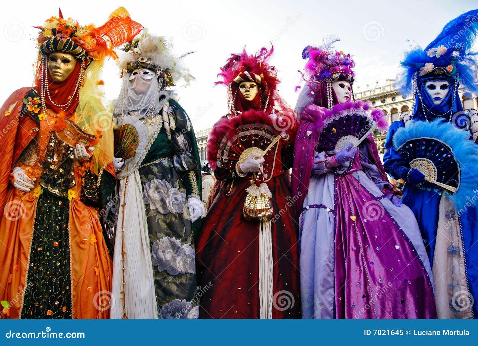 Karnevalet maskerar venice