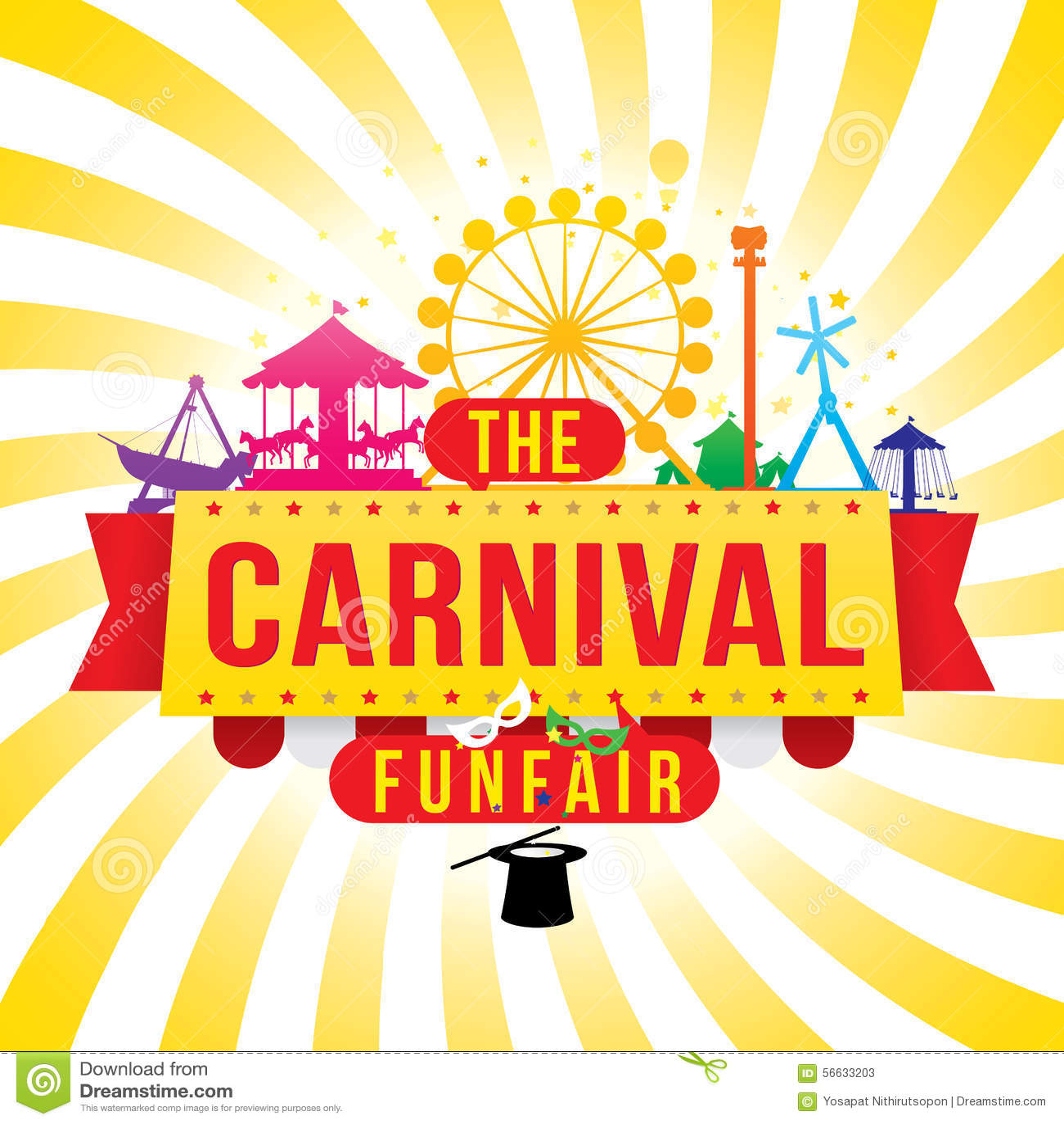 Karnevalfunfairen och den magiska showen
