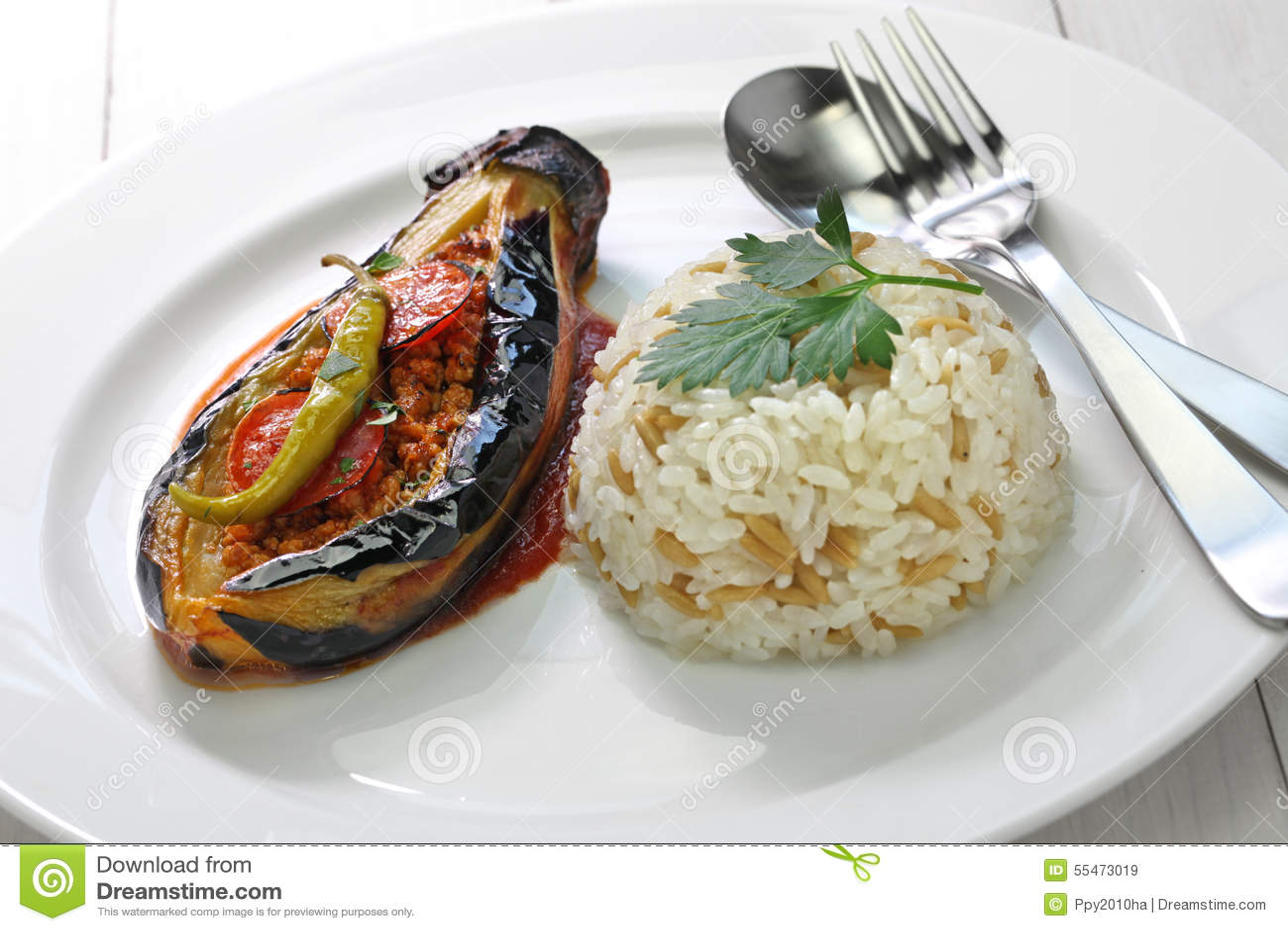 Karniyarik, Türkische Küche Stockfoto - Bild: 55473019