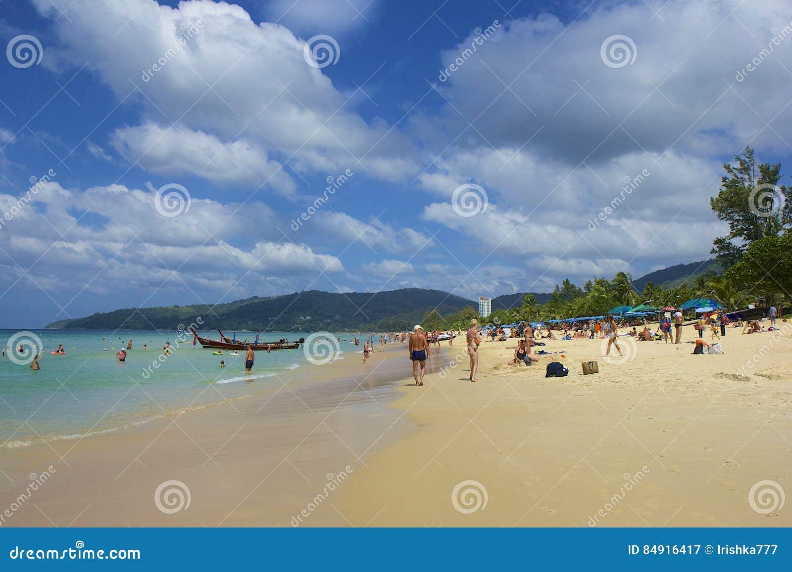 Karon海滩区域在普吉岛,泰国