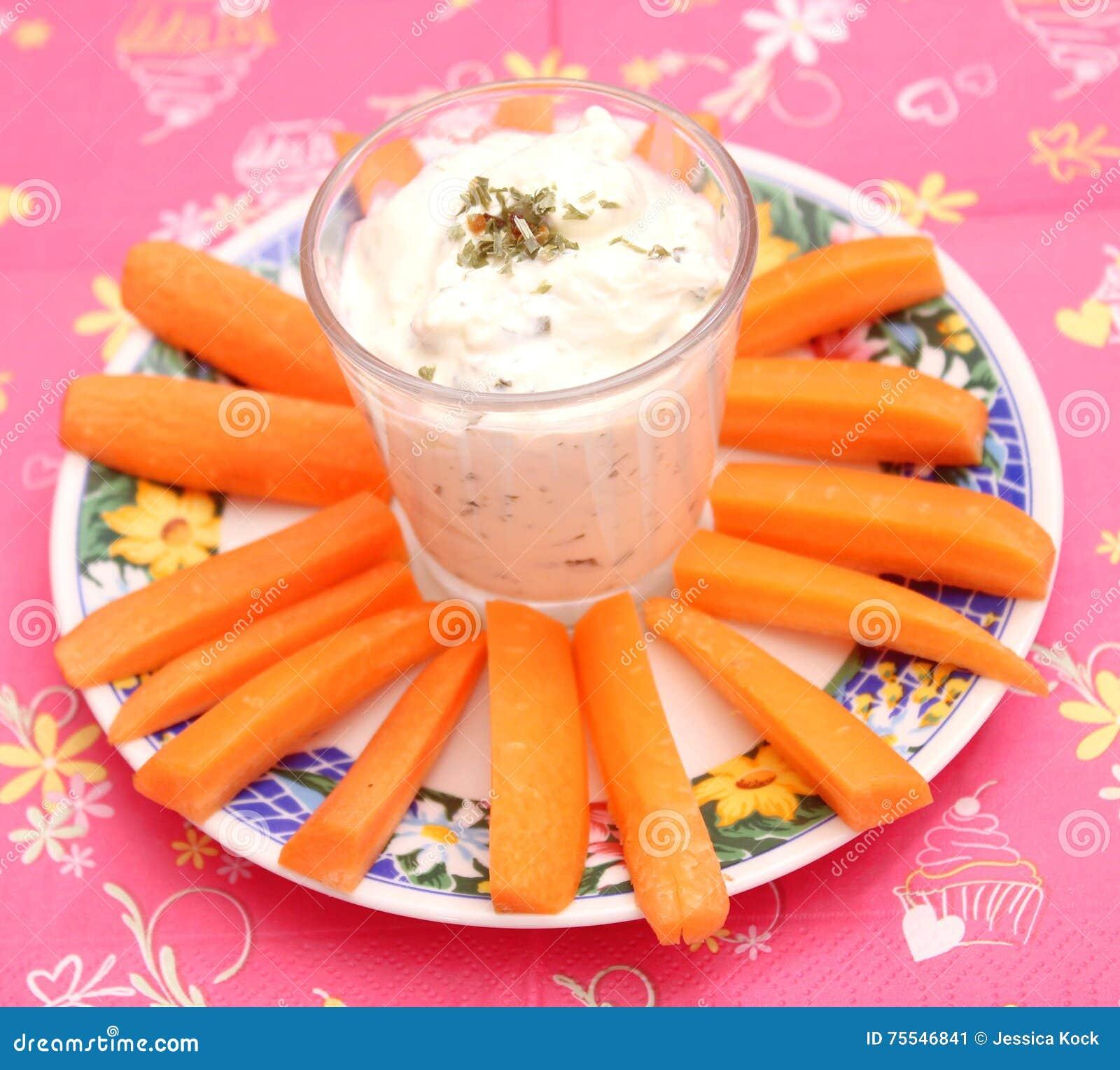 Karotten mit einem Bad