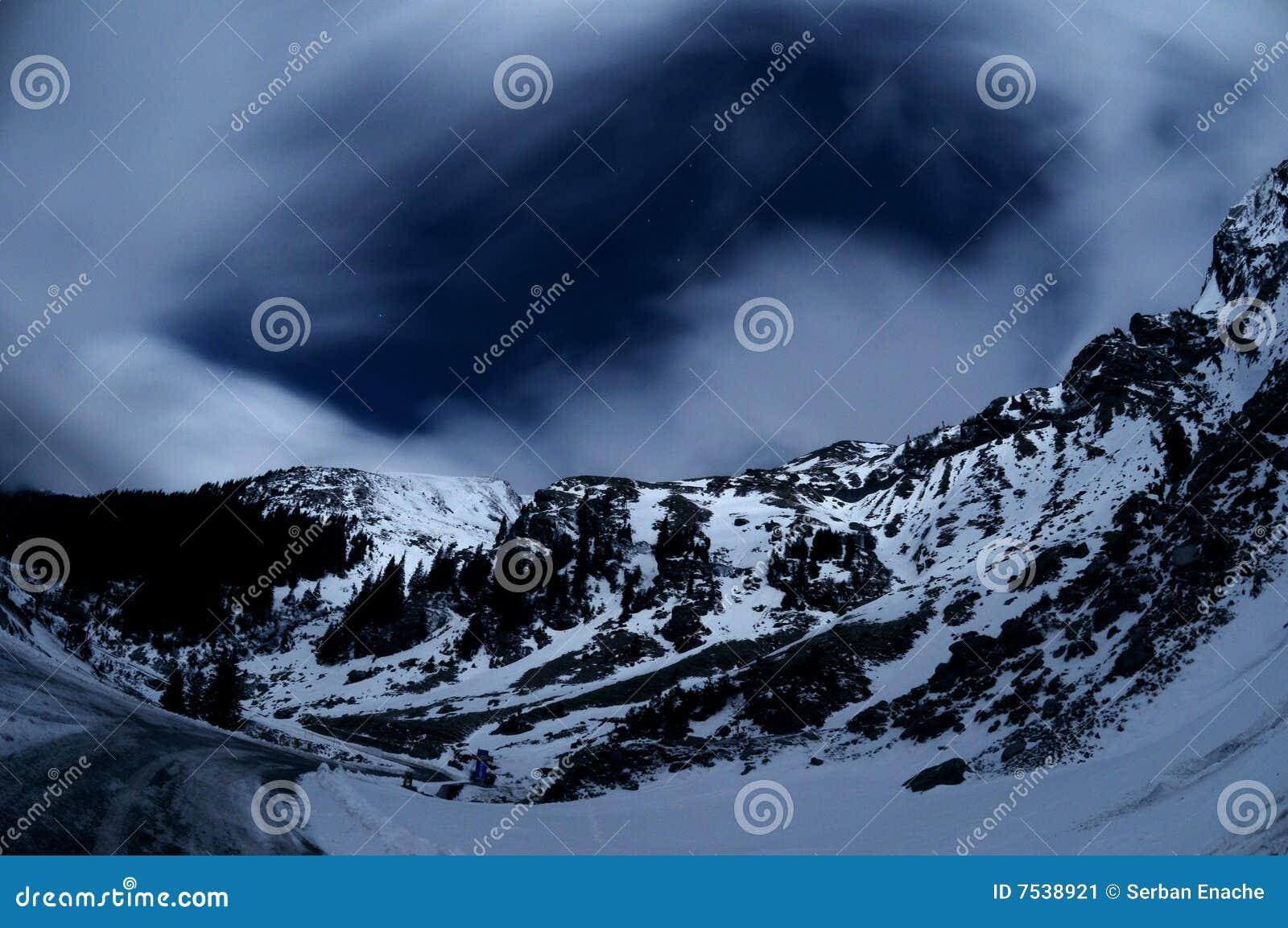 Karpatische bergen toneel