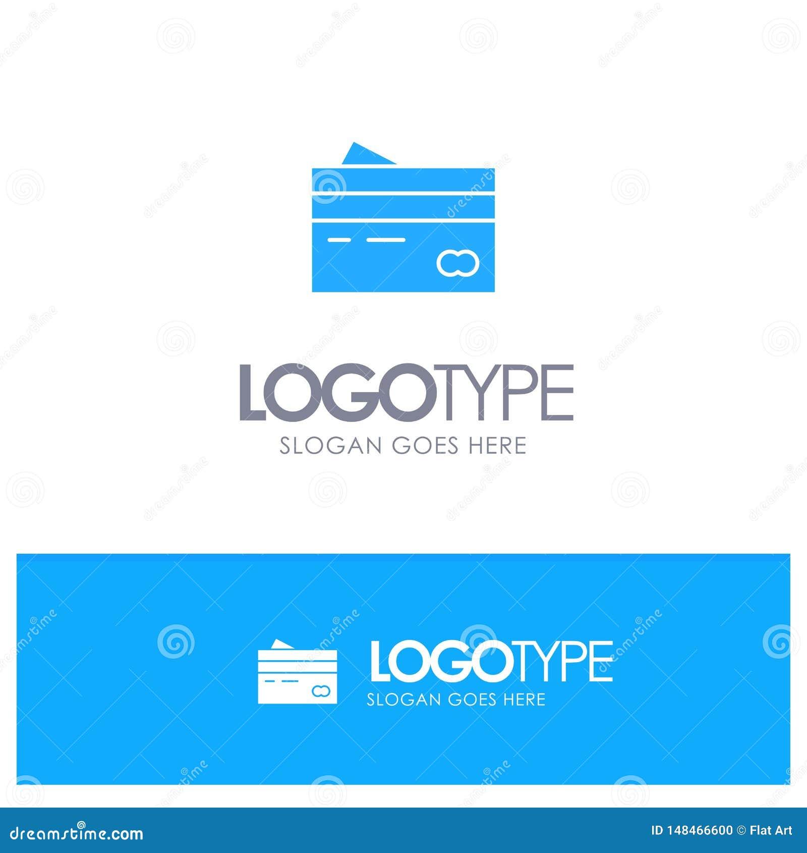 Karta kredytowa, bankowość, karta, karty, kredyt, finanse, pieniądze, zakupy Błękitny Stały logo z miejscem dla tagline