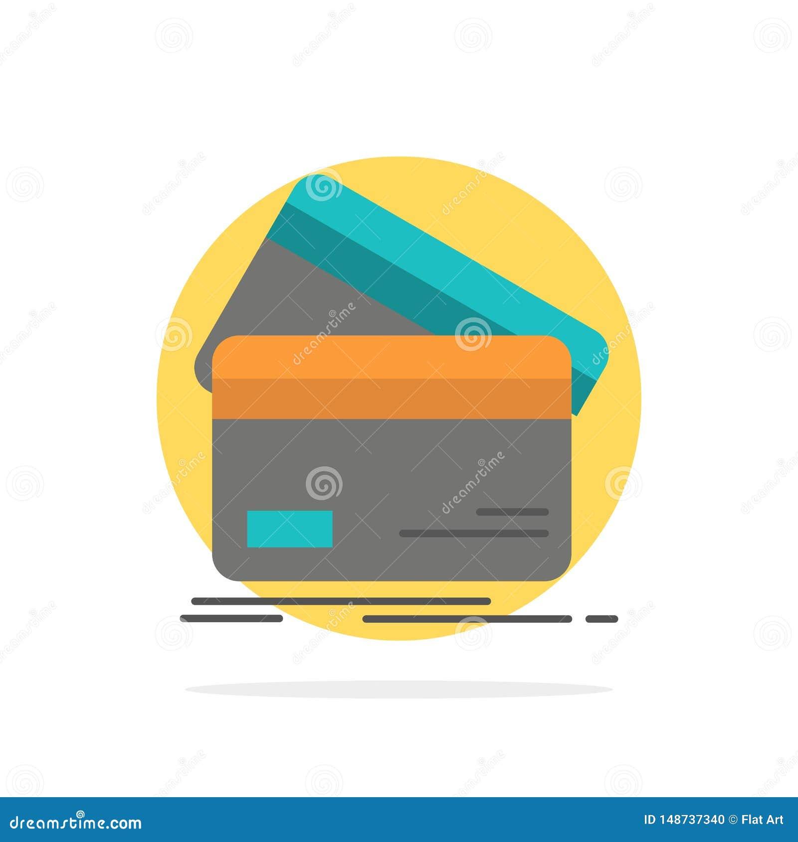 Karta kredytowa, biznes, karty, karta kredytowa, finanse, pieniądze, Robi zakupy Abstrakcjonistycznego okręgu tła koloru Płaską i