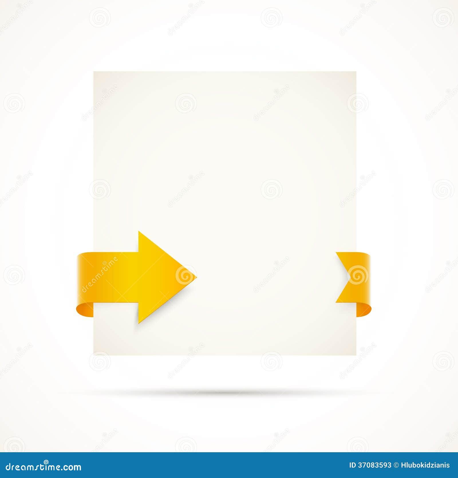 Download Karta z strzała ilustracja wektor. Ilustracja złożonej z pomarańcze - 37083593