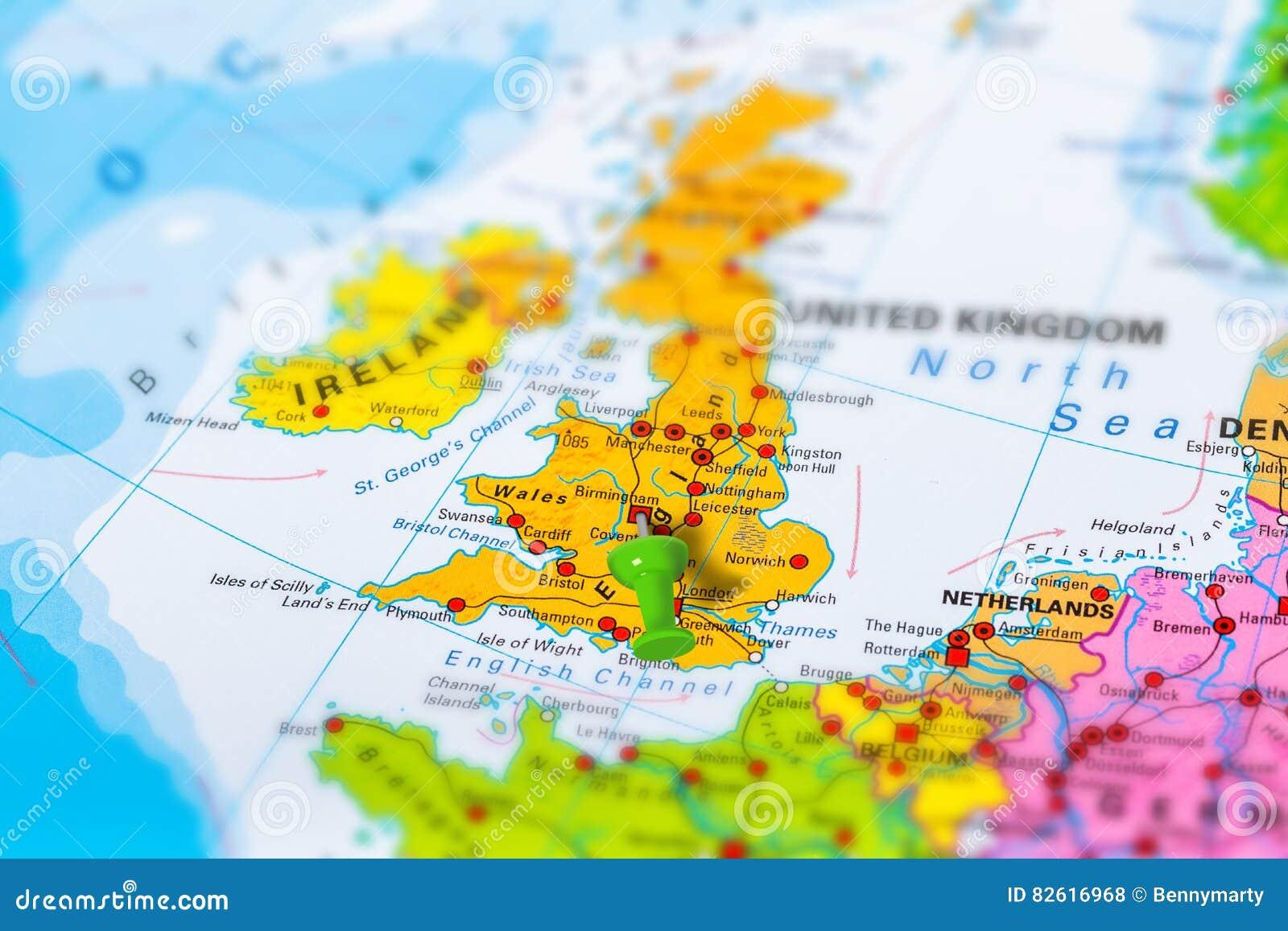 Birmingham Karte.Karte Birminghams Grossbritannien Stockfoto Bild Von Europa