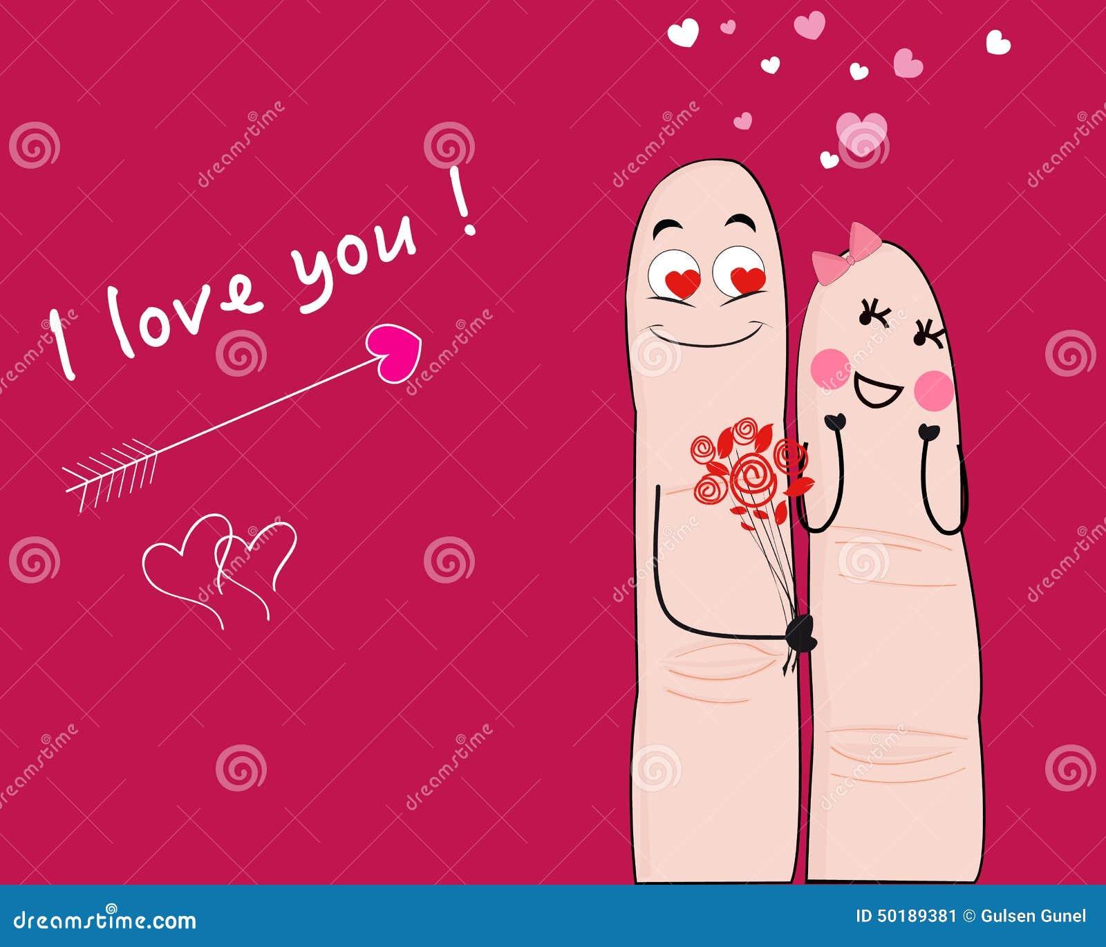 karte der fingerpaare ich liebe dich vektor abbildung illustration von feiertag finger 50189381. Black Bedroom Furniture Sets. Home Design Ideas