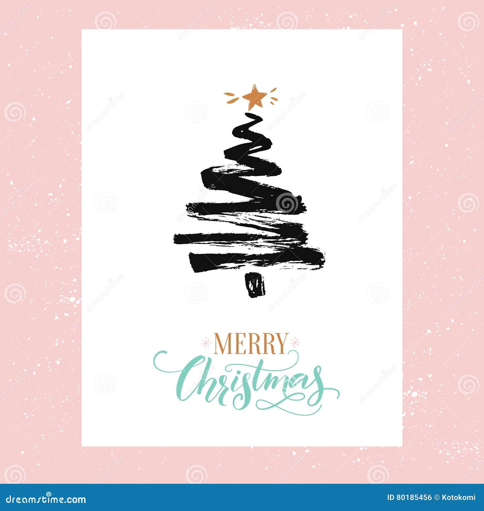 Frohe Weihnachten Text Karte.Karte Der Frohen Weihnachten Minimalismusdesign Einfacher