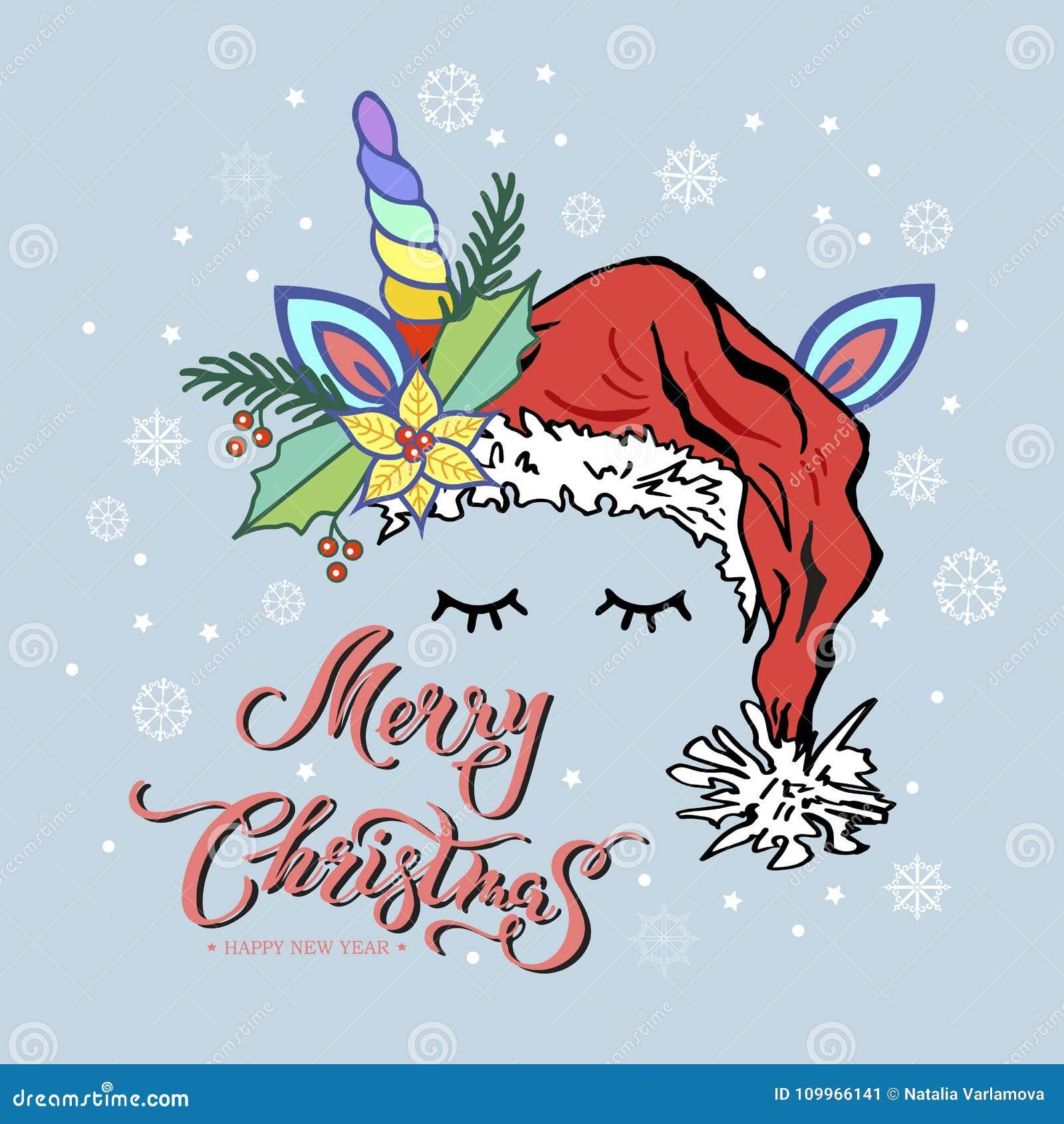karte der frohen weihnachten mit hand gezeichneter